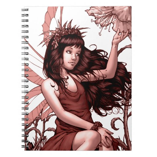 Young Fairy with Flowers by Al Rio Notebook