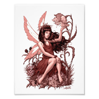 Young Fairy with Flowers by Al Rio Photo Print