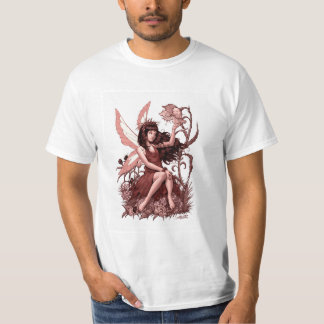 Young Fairy with Flowers by Al Rio T-Shirt