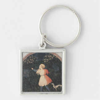 Young falconer, Florentine School Key Chain