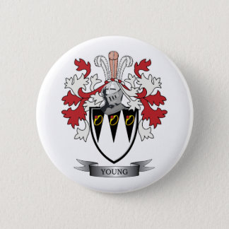 Young Family Crest Coat of Arms 6 Cm Round Badge