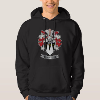 Young Family Crest Coat of Arms Hoodie