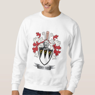 Young Family Crest Coat of Arms Sweatshirt