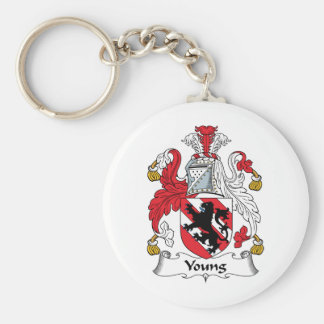 Young Family Crest Key Ring