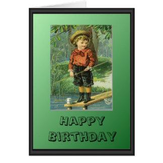 Young fisherman card