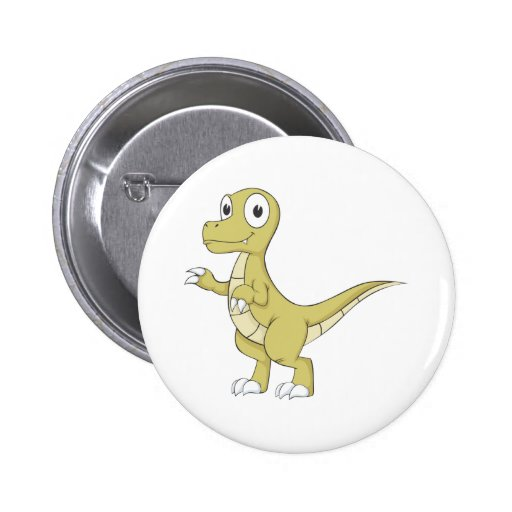 Young Friendly Dinosaur Pinback Buttons