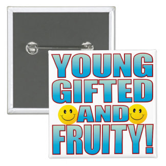 Young Fruity Life B 15 Cm Square Badge
