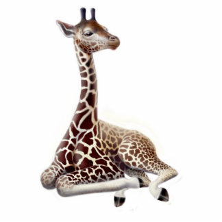 Young Giraffe Holiday Ornament Photo Sculpture Decoration