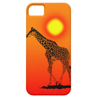 Young Giraffe in sunset IPhone Case