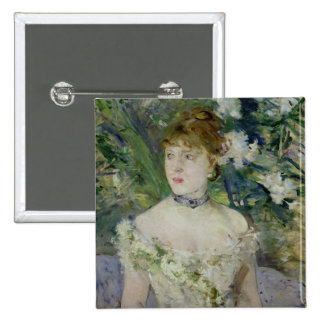 Young girl in a ball gown, 1879 15 cm square badge