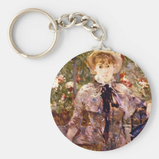 Young Girl in a Green House by Berthe Morisot Key Chain