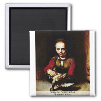 Young Girl Plucking A Duck By Fabritius Barent Magnet