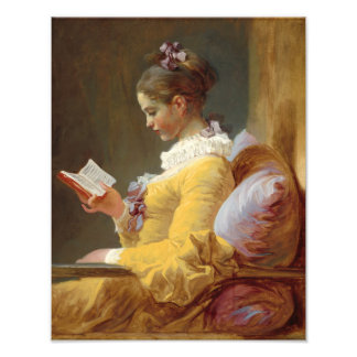 Young Girl Reading Photo Print
