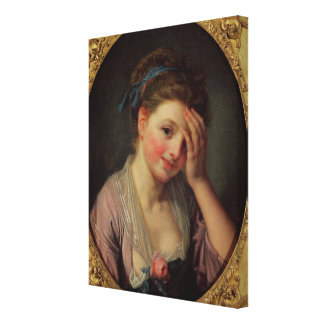 Young Girl with a Rose Gallery Wrap Canvas