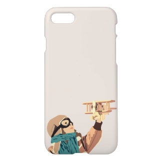 Young Girl with Wooden Plane Phone Case