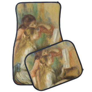 Young Girls at Piano by Pierre Renoir Car Mat