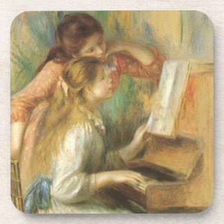 Young Girls at Piano by Pierre Renoir Coasters
