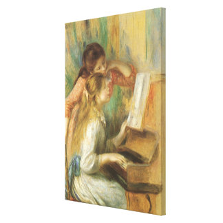 Young Girls at Piano by Pierre Renoir Stretched Canvas Print