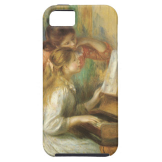 Young Girls at Piano by Renoir, Vintage Fine Art iPhone 5 Case