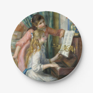 Young Girls at Piano - Pierre Renoir Paper Plate