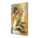 Young Girls at the Piano by Pierre Auguste Renoir Canvas Print