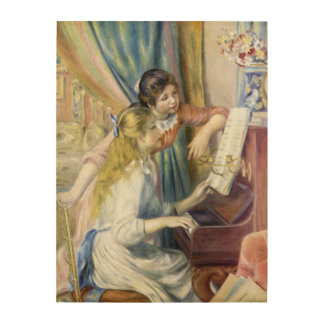 Young Girls at the Piano by Pierre Renoir Wood Canvases