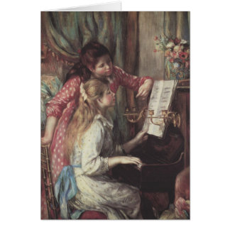 Young Girls at the Piano, Renoir Impressionism Art Greeting Card