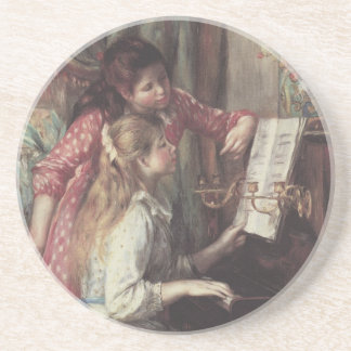 Young Girls at the Piano, Renoir Impressionism Art Coaster