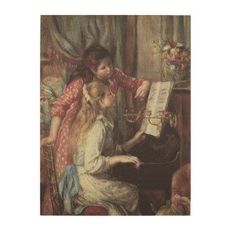 Young Girls at the Piano Renoir Impressionism Art Wood Prints