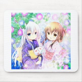 Young Girls In Yukata Mouse Pad