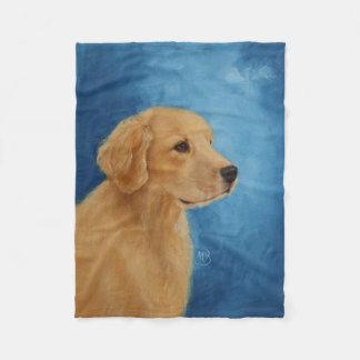 Young Golden Retriever Fleece Blanket