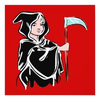 Young Grim Reaper 13 Cm X 13 Cm Square Invitation Card