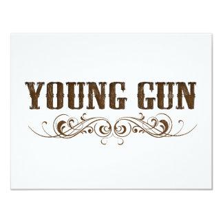 young gun 11 cm x 14 cm invitation card
