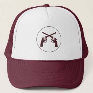 YOUNG GUN: MAROON TRUCKER HAT