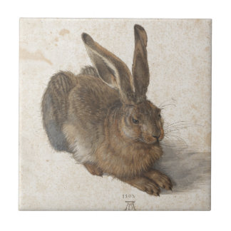 Young Hare by Albrecht Durer Tile