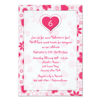 Young Heart Birthday Valentine's Party Invitation