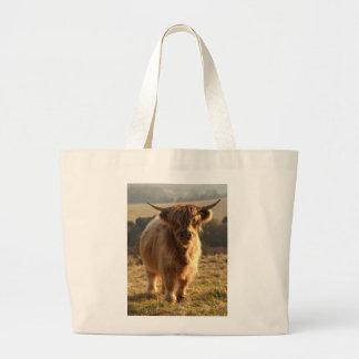 Young Highland Cow Jumbo Tote Bag