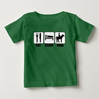 Young Horseback Rider Eat Sleep Ride Funny T-shirt