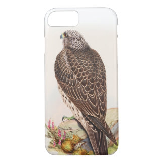 Young Iceland Falcon Gould Birds of Great Britain iPhone 7 Case