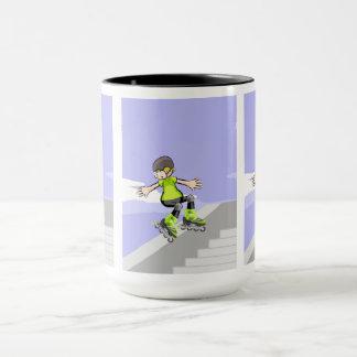 Young it shows its skill in the skating mug