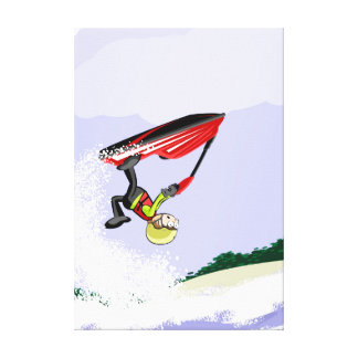Young it shows to its feat in its jet ski canvas print