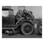 Young Lady Auto Mechanics, 1927 Poster