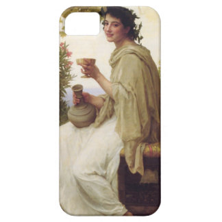 Young lady drinking wine iPhone 5 cases
