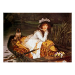 Young Lady In A Boat ~ James Tissot ~ Fine Art Poster