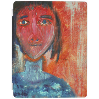 Young Lady in Orange iPad Cover