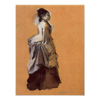 Young lady in the road costume by Edgar Degas Posters