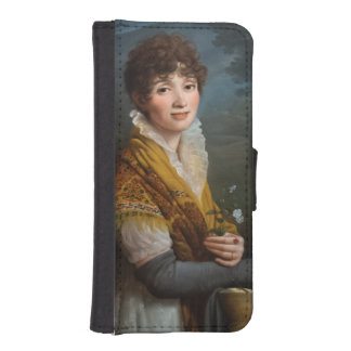 Young Lady iPhone 5 5s Wallet Case iPhone 5 Wallet