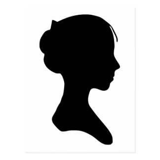 Young Lady Silhouette Postcard
