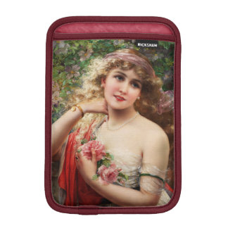 Young Lady With Roses by Emile Vernon iPad Mini Sleeves