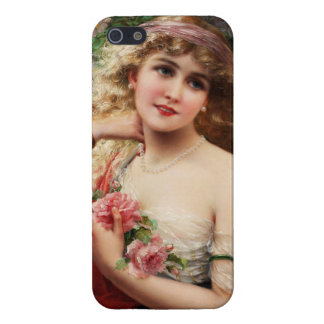 Young Lady With Roses by Emile Vernon iPhone 5/5S Cover